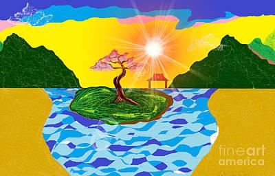 Digital Art - Mystical Island by Lewanda Laboy