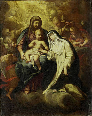 Mystical Marriage Of Saint Rosa Of Lima, Attributed Art Print