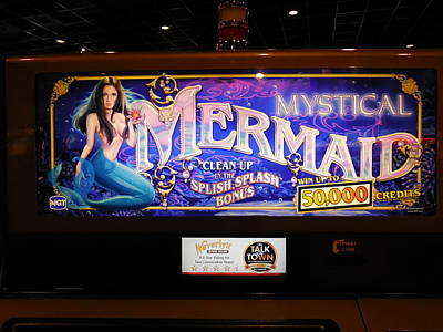 Photograph - Mystical Mermaid Slot Machine by Yul Olaivar