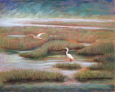 Waterfowl Painting - Mystical Morning by Karin  Leonard