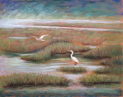 Moss Landing Painting - Mystical Morning by Karin  Leonard