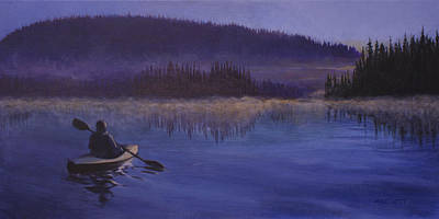 Mystical Landscape Painting - Mystical Morning by Michael Beckett