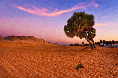 Photograph - Mystical Morning On The Egyptian Sahara by Mark E Tisdale