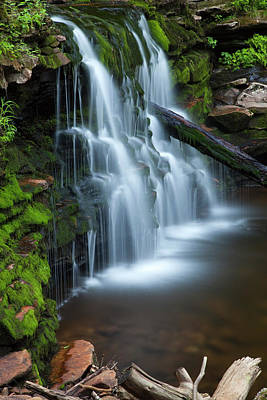 Photograph - Mystical Mossy Green Waterfall by John Stephens