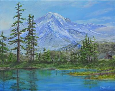 Mystical Mt. Rainier  Art Print