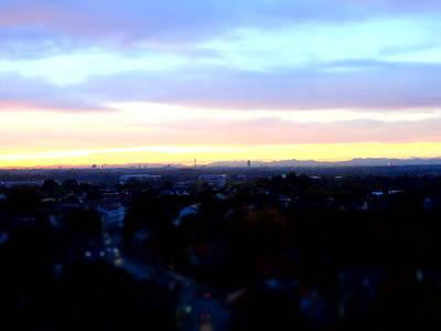 Mystical Munich Skyline With Alps During Sunset II Art Print