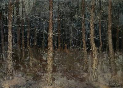 Mystical Paths, Forest Scene, Gust Van De Wall Perné Art Print