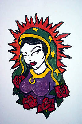 Virgen De Guadalupe Painting - Mystical Rose by Jane Madrigal
