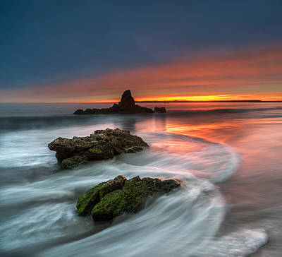 Stacks Photograph - Mystical Sunset 2 by Larry Marshall