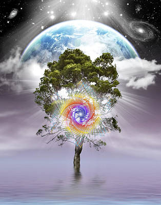 Digital Art - Mystical Tree Of Life by Endre Balogh