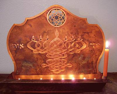 Mixed Media - Mystic's Menorah by Shahna Lax