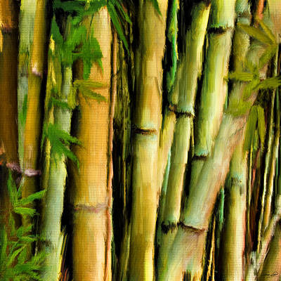 Bamboo Painting - Mystique Beauty- Bamboo Artwork by Lourry Legarde
