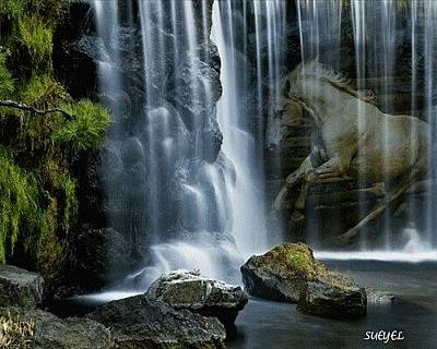 Digital Art - Mystique Falls by Sueyel Grace