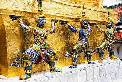 Bath Time - Mythical Figures in Bangkok by David Smith
