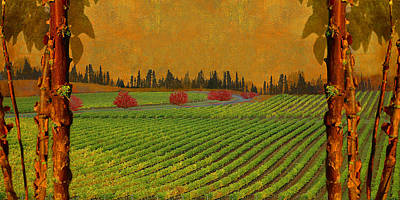 Mythical Vineyard Print by Jeff Burgess