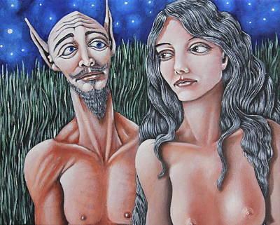 Faun Painting - Mythological Subject by Don Martinelli