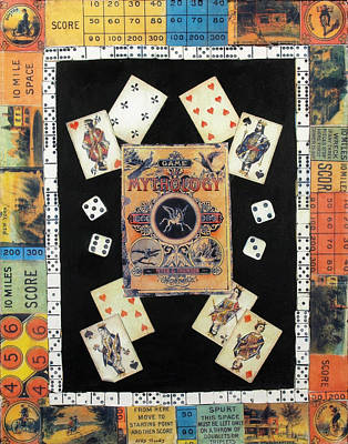 Board Game Mixed Media - Mythology by Judy Tolley