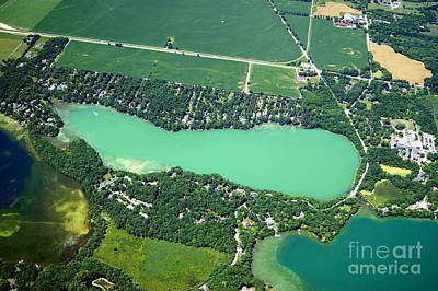 Photograph - N-018 Neshotah Lake Lower Waukesha Co. Wisconsin by Bill Lang