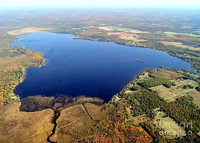 Photograph - N-020 Noquebay Lake Wisconsin by Bill Lang