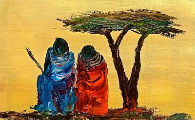 Painting - N 15 by John Ndambo