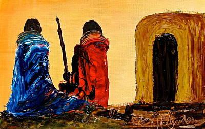 Painting - N 19 by John Ndambo