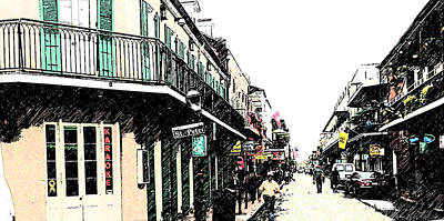 N O French Quarter Art Print