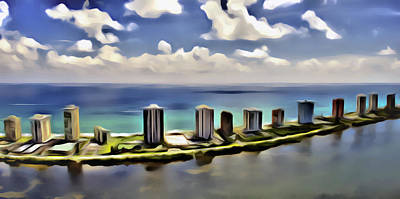 Digital Art - N Ocean Dr by Patrick M Lynch