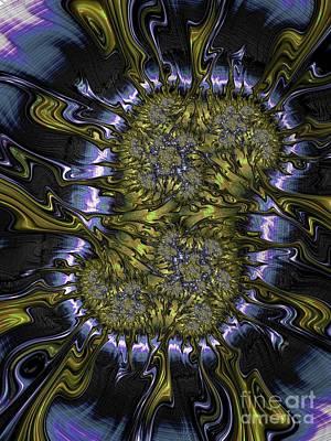 Curves Digital Art - N U C L E U S by Charles Dobbs