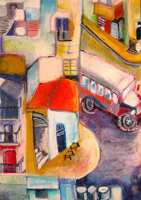 N2 Line At Mea Shearim Original by Moshe BenReuven
