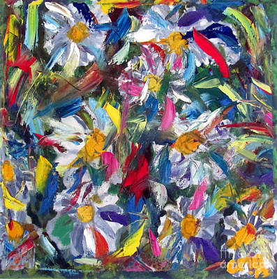 Abstract Expressionism Painting - Na Floresta by Greg Mason Burns