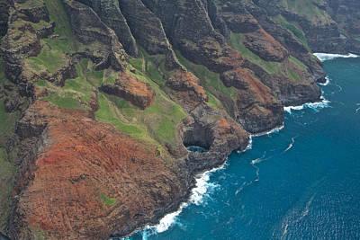 Photograph - Kauai Colors Aerial by Steven Lapkin