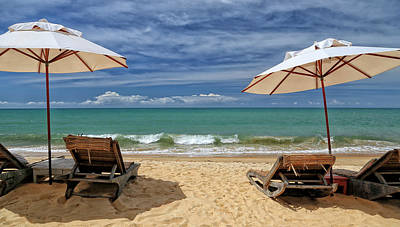 Lounge Chair Photograph - Na Praia Em Trancoso by Marcelo Nacinovic