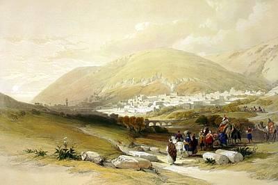 Photograph - Nablus Old Shechem by Munir Alawi
