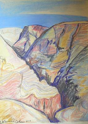 Drawing - Nachal Darga Canyon by Esther Newman-Cohen