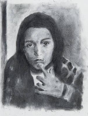 Judaica Drawing - Nachman Thinking by Michel Simov