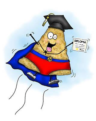 Diploma Mixed Media - Nacho Average Graduate by Nicole Spencer