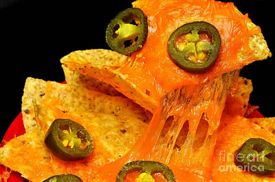 Photograph - Nachos With Jalapeno Peppers by Danny Hooks