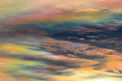 Photograph - Nacreous Clouds 1 by Paul Marto
