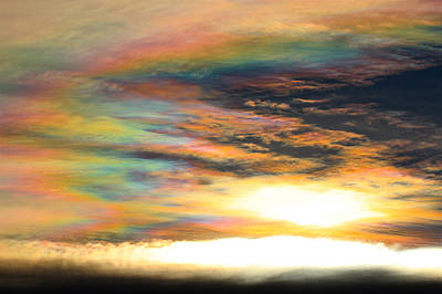Photograph - Nacreous Clouds 2 by Paul Marto