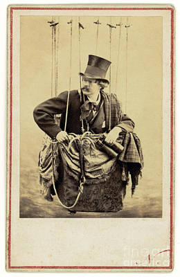 Photograph - Nadar In The Gondola Of A Balloon 1863 by Getty Research Institute