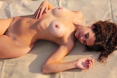 Nadine- Nude At Sandy Hook Beach #3 Art Print by Stephen Carver