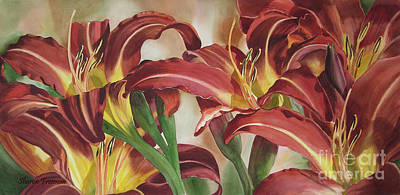 Nadine's Lilies Art Print by Sharon Freeman