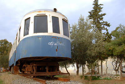Photograph - Nafplio Abandoned Train by Deborah Smolinske
