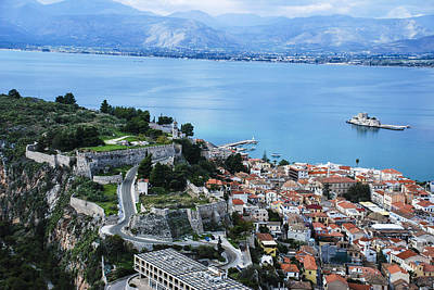 Nafplio And Argolic Gulf Art Print by David Waldo