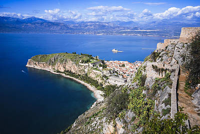 Nafplio Peninsula Art Print by David Waldo