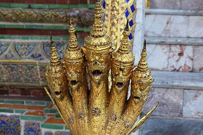 Naga Photograph - Naga - Grand Palace In Bangkok Thailand - 01131 by DC Photographer