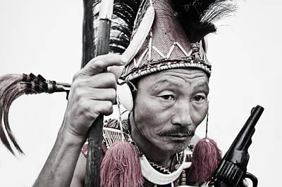 Indian Culture Photograph - Naga Tribal Warrior In Traditional by Exotica.im