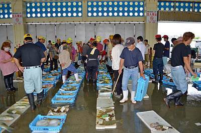 Photograph - Nago Fish Market Auction by Jeff at JSJ Photography