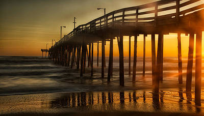 Nags Head Fishing Pier Art Print
