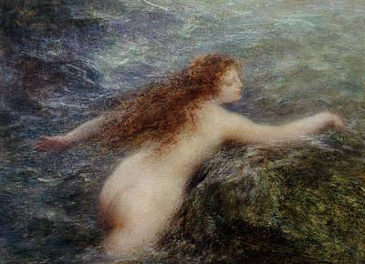 Erotica Painting - Naiade by Ignace Henri Jean Fantin-Latour